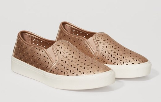 Loft Rose Gold Slip On Sneakers