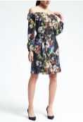 Banana Republic Floral Off-Shoulder Dress