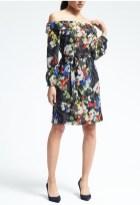 Banana Republic Floral Off-Shoulder Dress