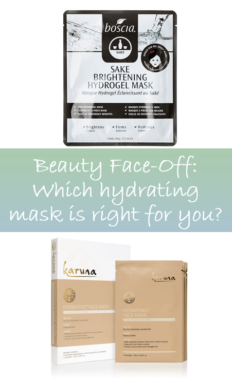 Find out how the Karuna Hydrating+ Face Mask and Boscia's Sake Brightening Hydrogel Mask Compare.