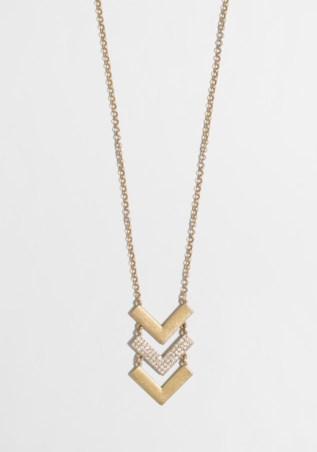 J.Crew Factory Chevron Pendant Necklace