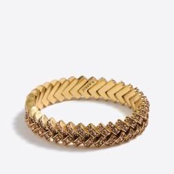J.Crew Factory Crystal Basketweave Bracelet