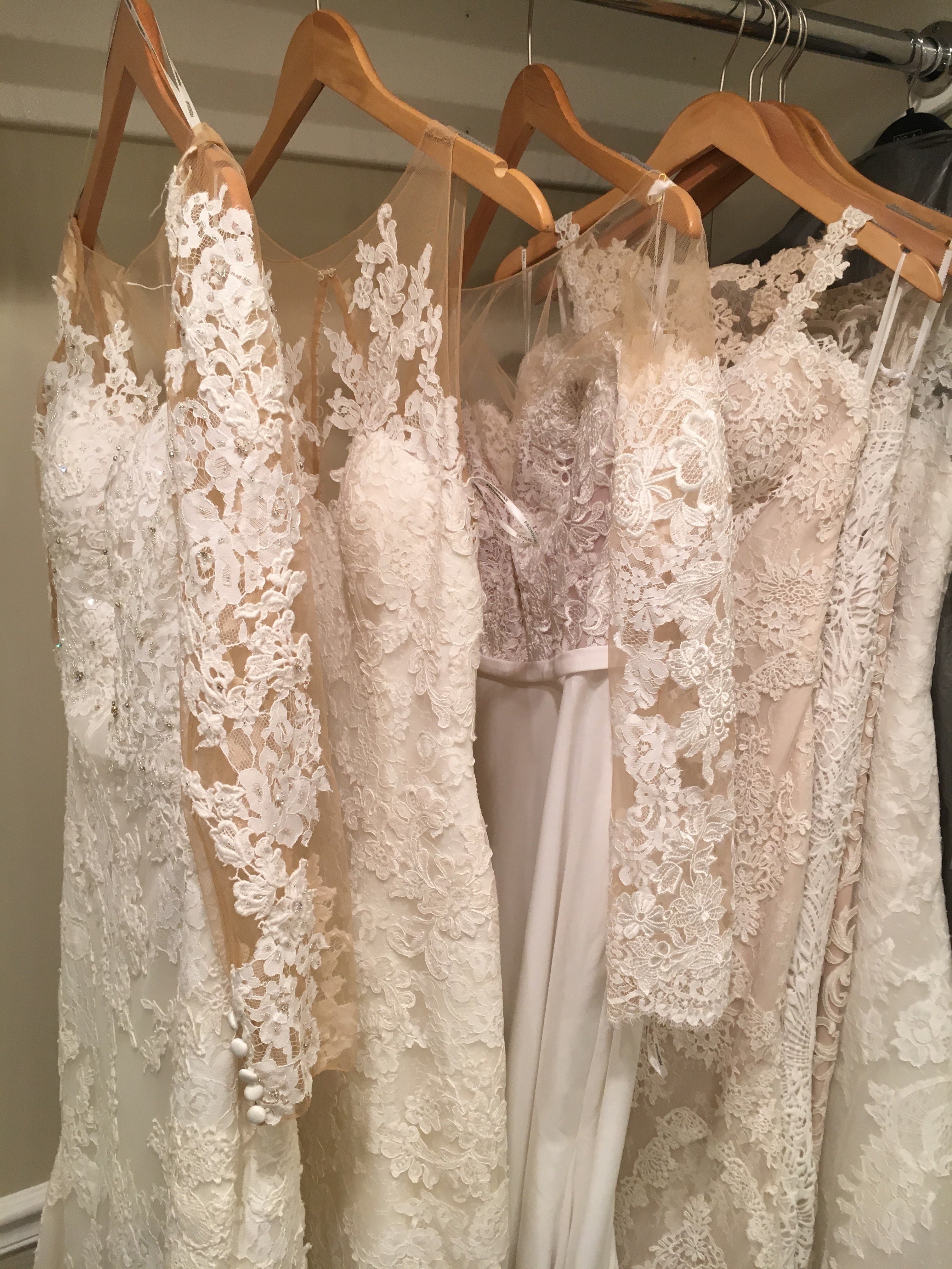 These are a few of the dresses I tried on last weekend.