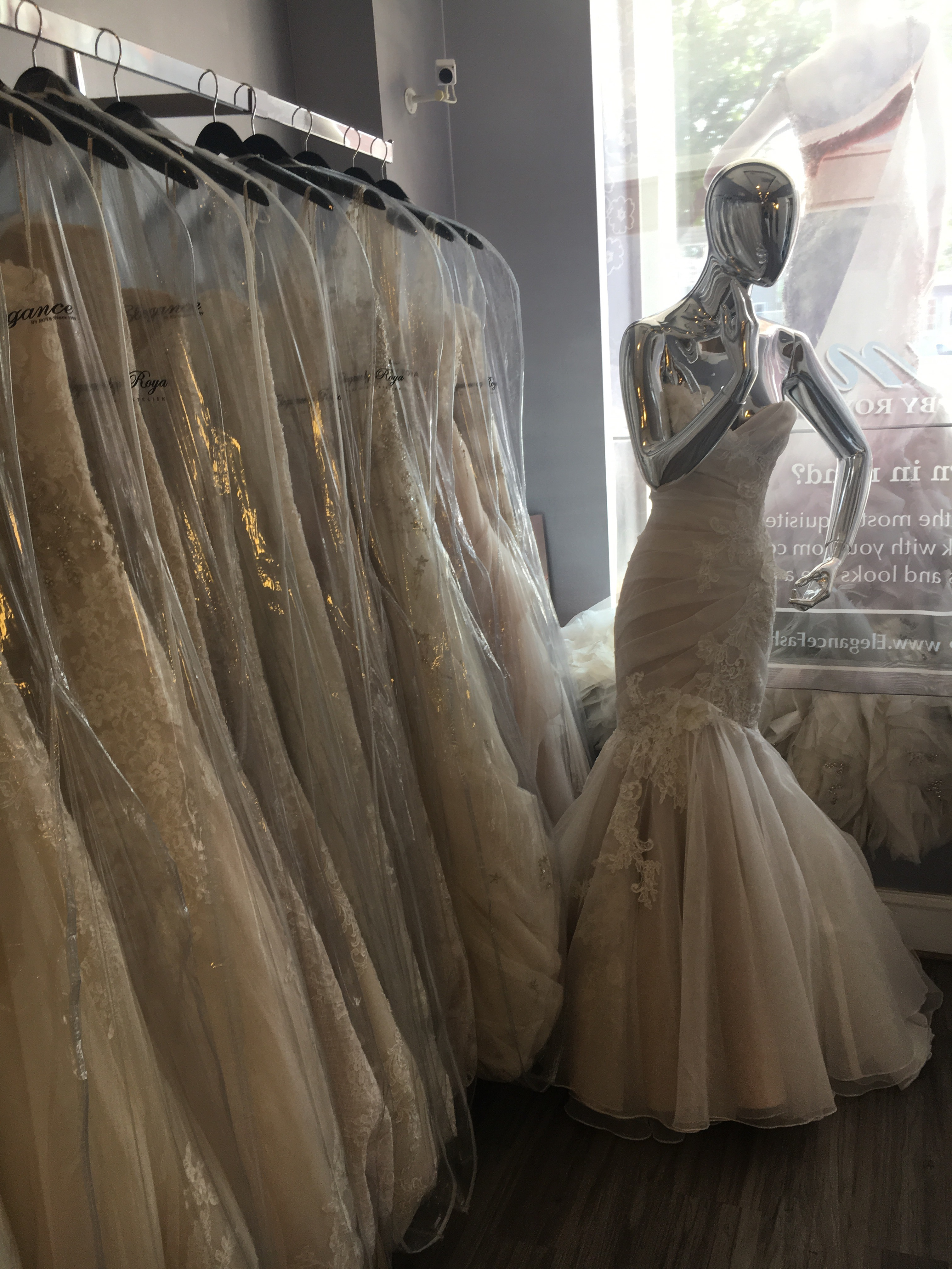 These are a few dresses at the second store we went to, where I found the perfect dress!