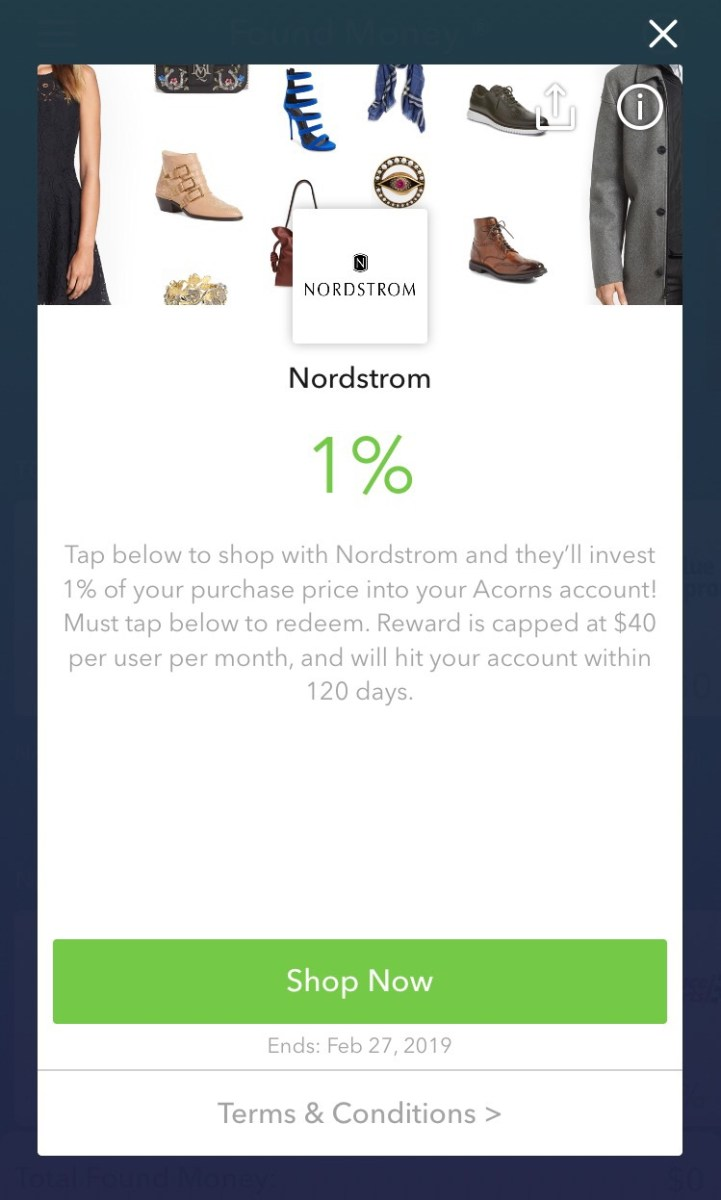 Acorns App Found Money Program and Investing Spare Change
