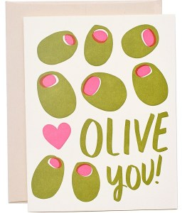 14 Sweet & Punny Valentine's Day Cards - Oliver Bonas Olive You!