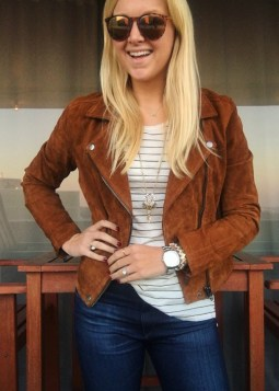 Suede Moto Jacket - Best Fashion Purchases of the Year - Sarah Camille's Scoop - SCsScoop.com