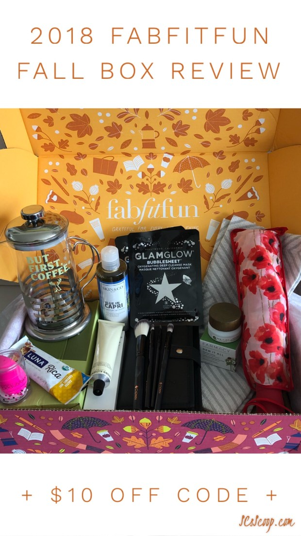 2018 FabFitFun Fall Box Review + $10 OFF Code - SCsScoop.com