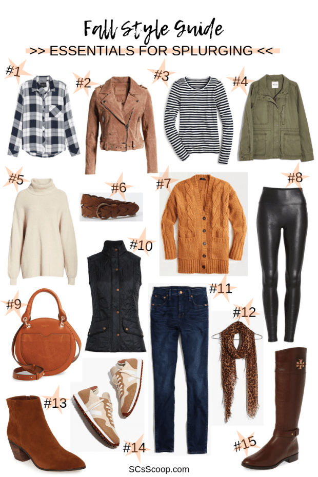 Fall Style Essentials for Splurging - SCsScoop.com - Fall Style Guide | Fall Must-Haves | Fall Style Inspiration