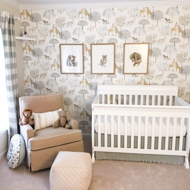 Gender Neutral Nursery - Safari Wallpaper - Nursery Inspiration - SCsScoop.com