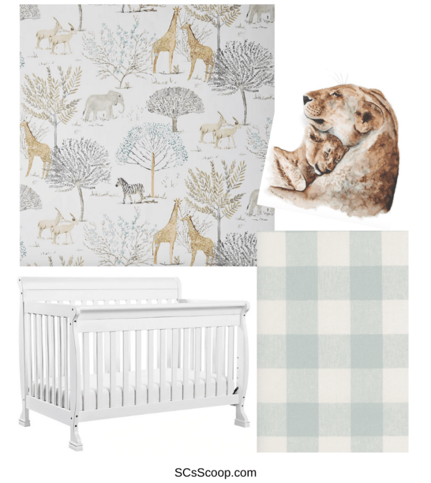 gender neutral safari nursery inspiration