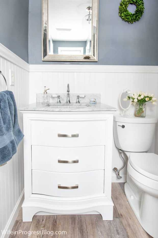 Bathroom Design Inspiration - White Beadboard Panel