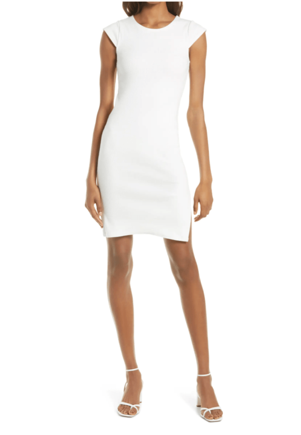 fitted white dress under $100 - SCsScoop.com