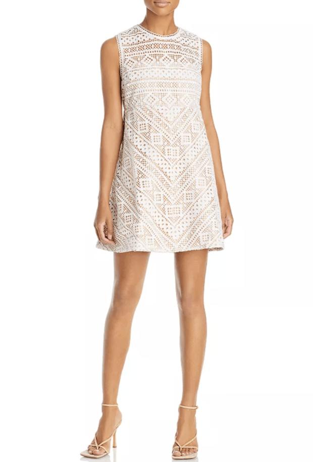 white lace mini dress $100  - SCsScoop.com