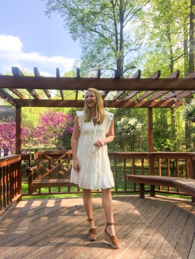 little white dress under $100 - target prarie dress - SCsScoop.com