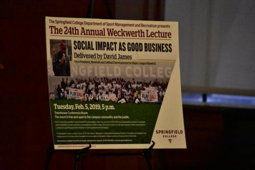 MLB's David James Speaks at Springfield College