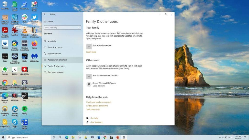 Cách chia sẻ máy tính chạy Window 10