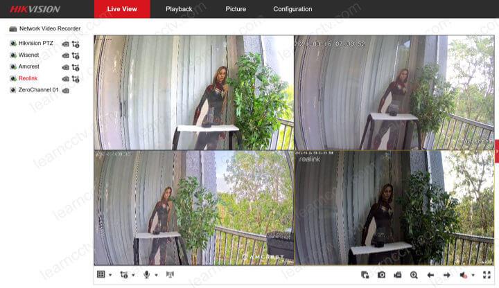 Hikvision NVR tự động hiển thị camera