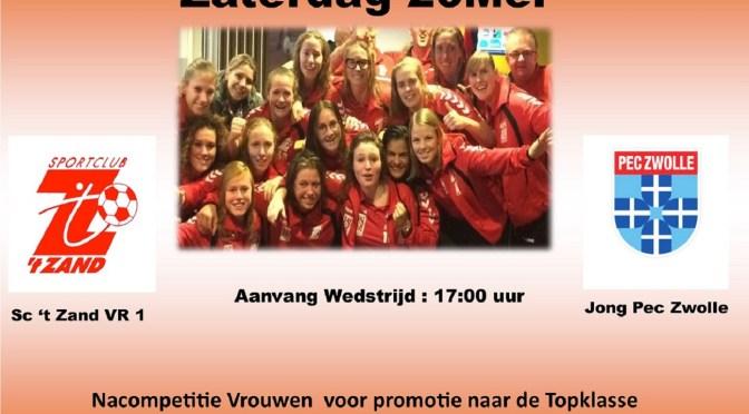 Sc 't Zand VR1 – Jong Pec Zwolle zaterdag 20 mei