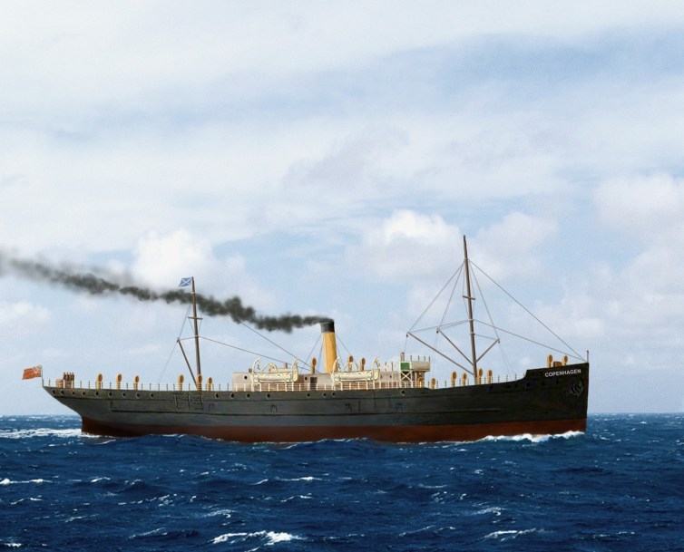 An illustration of the SS Copenhagen (Courtesy of the town of Lauderdale by the Sea)