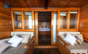 Cabin five on the Damai II offers a private deck. (Courtesy Damai II)