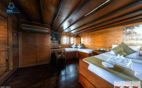Cabin five also offers lots of floor space, a window seat, and a king-sized bed. (Courtesy Damai II)
