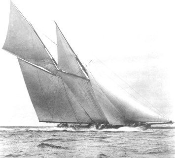 001 Germania racing under sail.