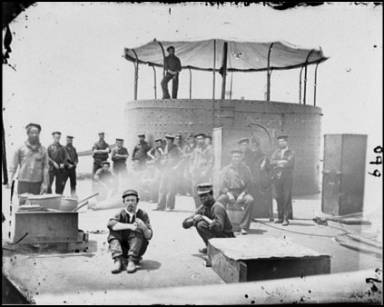 The USS Monitor played a decisive role in the Civil War. (Photo courtesy of Library of Congress)