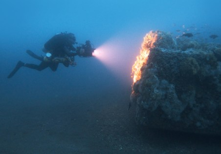 Scientific and recreational divers can dive Monitor after obtaining a free permit. (Photo credit: NOAA)
