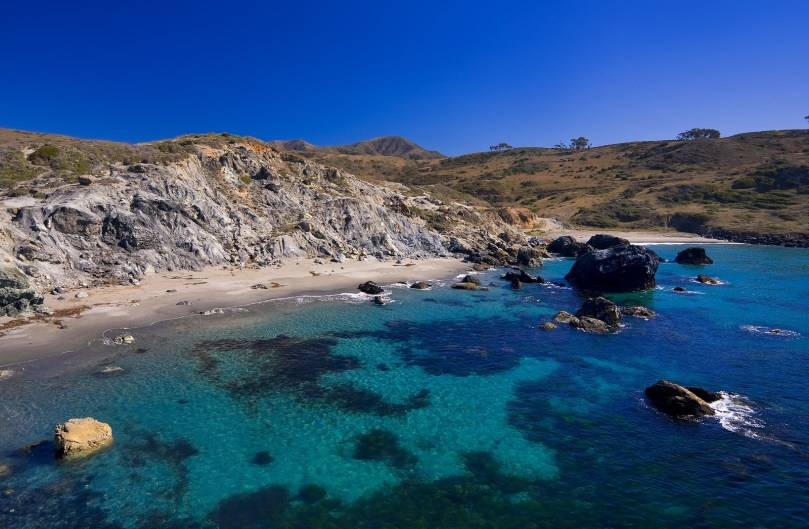 Beautiful Beach and Cove on Catalina Island, California