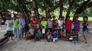 Lorie's family in Milne Bay, Papua New Guinea