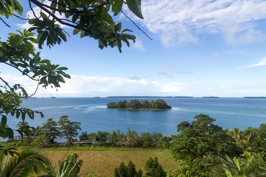 Marovo Lagoon in Solomon Islands
