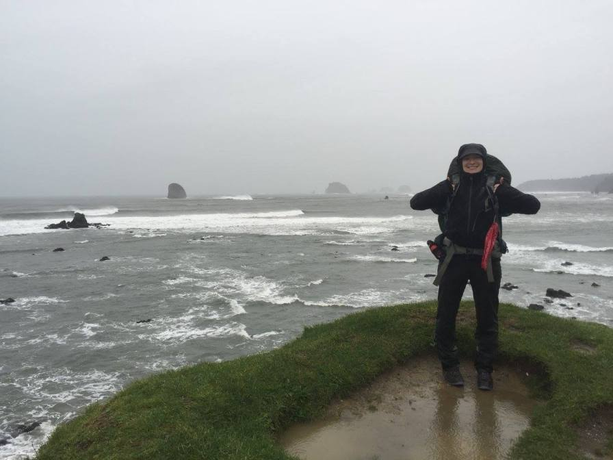 Weather on the coast is a constant problem for Hale when she's in the field. Photo courtesy of Jessica Hale