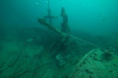 Engine remains and boilers of F.W. Abrams. Photo: NOAA