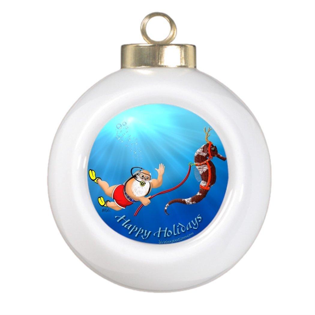 scuba diving christmas tree ornaments