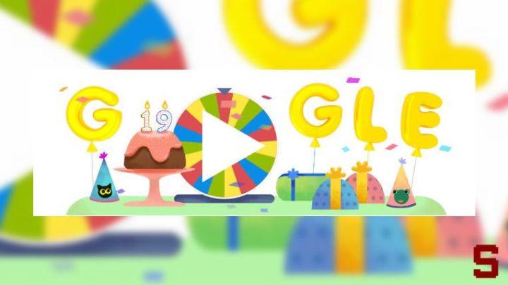 Google, Google compie 19 anni e festeggia con un doodle