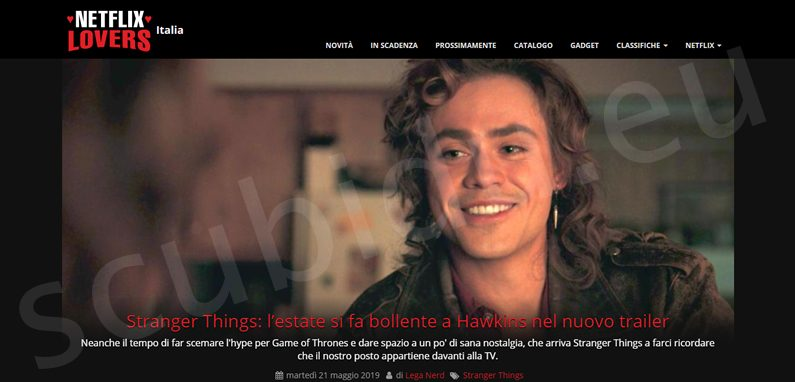 Netflix lovers italia maggio 2019