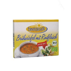 Erntesegen – Cuburi Bio pentru supa, cu carne de vita, 72g (6x12g)