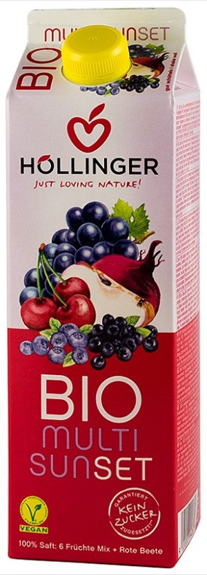 Hollinger - Multi Sunset suc BIO de fructe si sfecla rosie, 1L