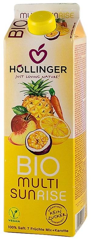Hollinger - Multi Sunrise suc BIO din amestec de fructe, 1L