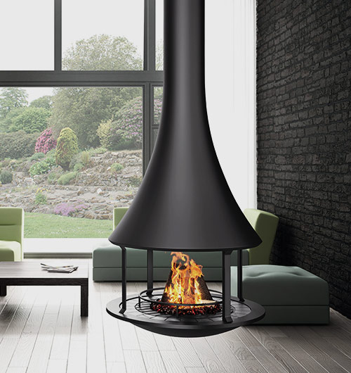 Suspended Heater Contemporary Wood Architectural
