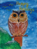 Holiday card winter owl