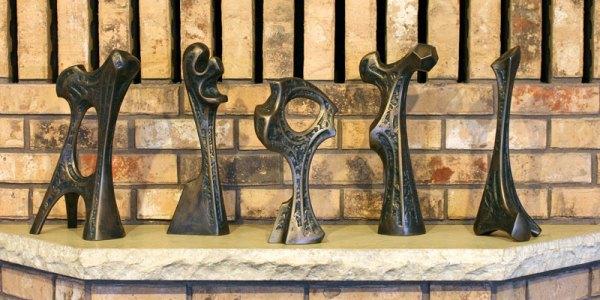 Artifact sculpture group by sculptor Sam Spiczka.