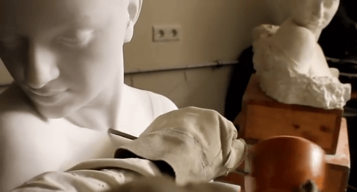 Carving a Marble Sculpture