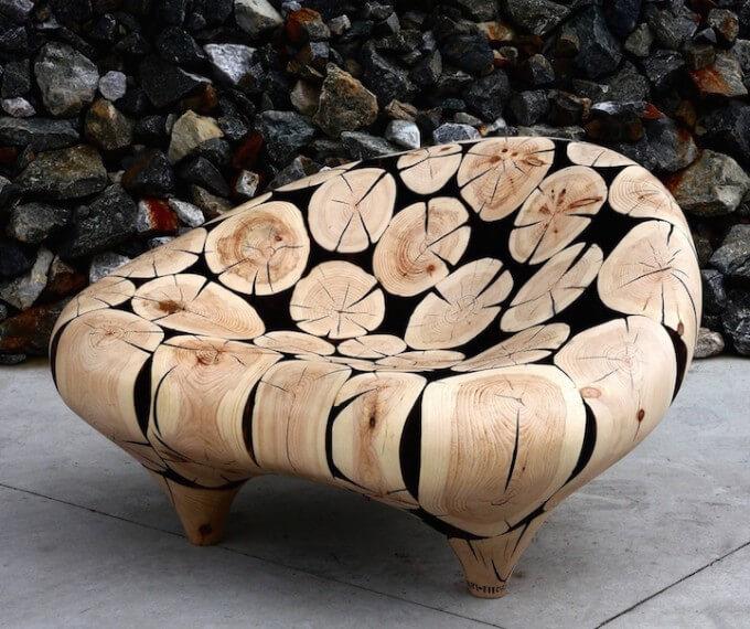 Wood Sculpture by Jae-Hyo Lee