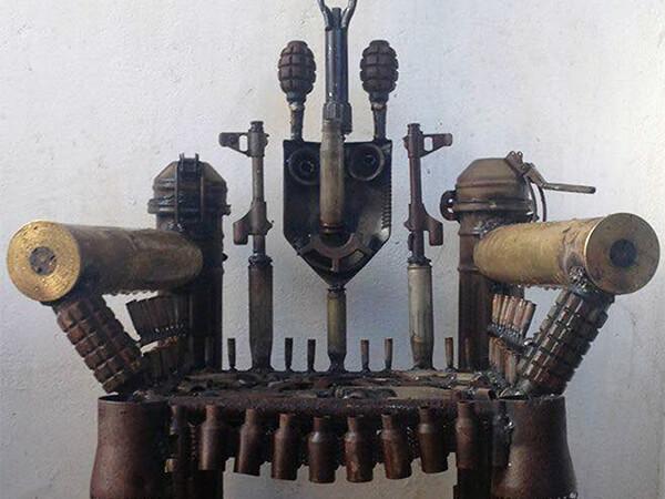 """Goncalo Mabunda's """"War Throne."""""""