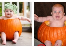 pumpkin carving fail baby