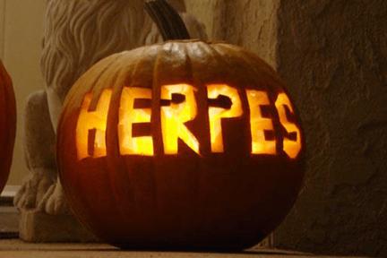 pumpkin carving fail herpes