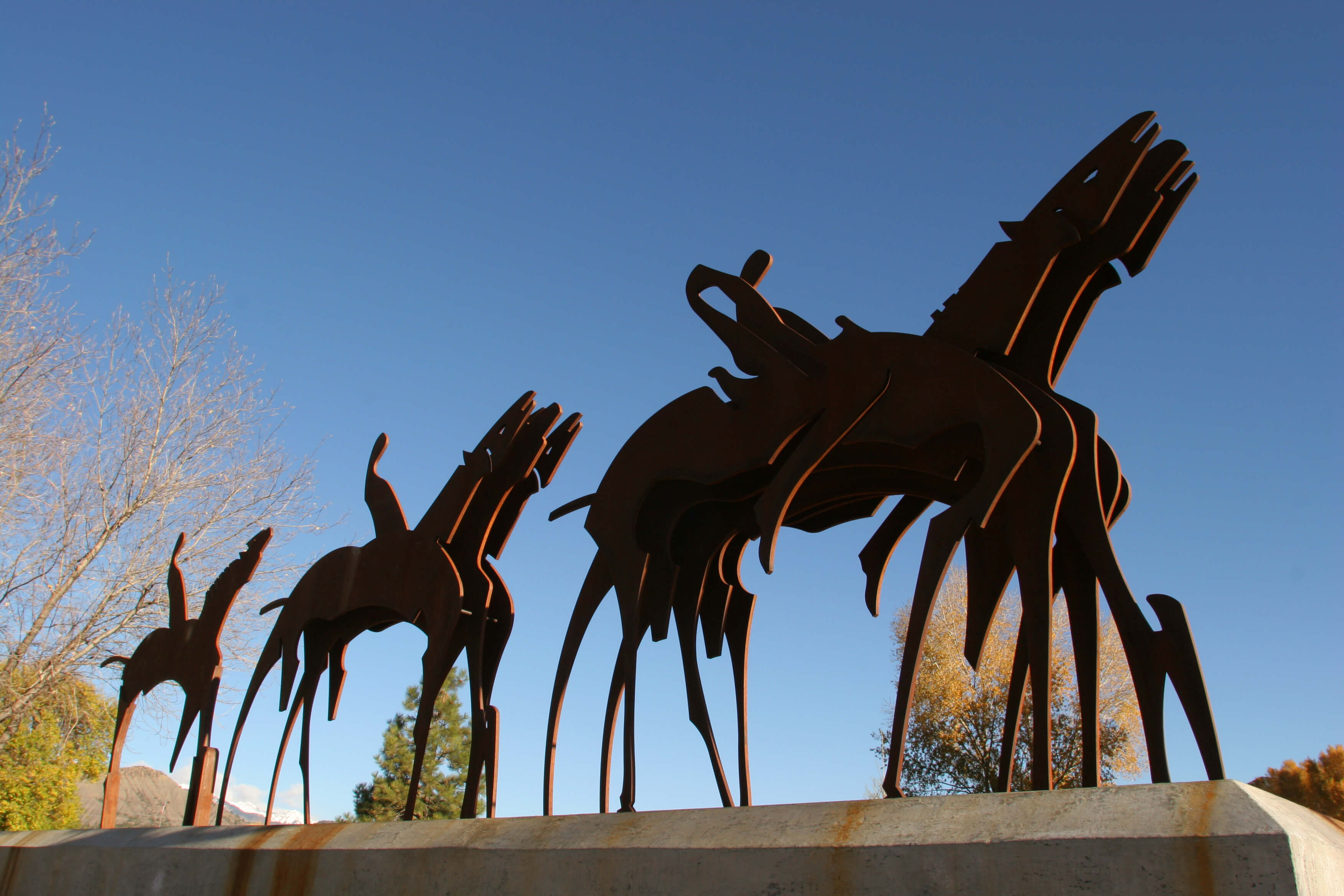 Durango Public Art, Parade Formation, by Mick Reber