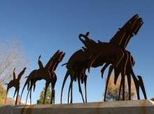 Durango Public Art, Parade Formation, by Mick Reber